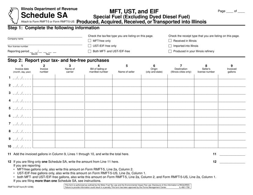 Form RMFT-6-SF Printable Pdf