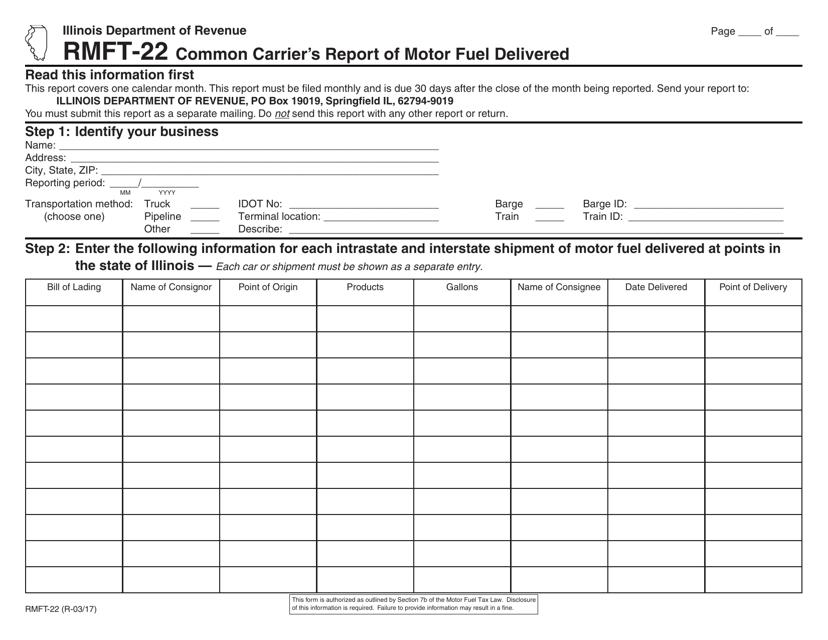 Form RMFT-22  Printable Pdf