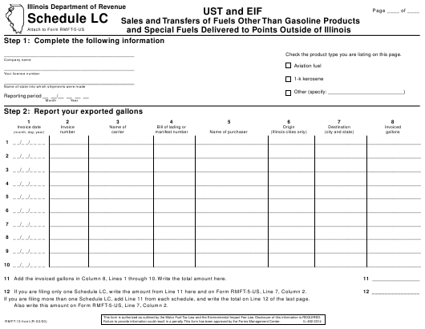 Form RMFT-13 Printable Pdf
