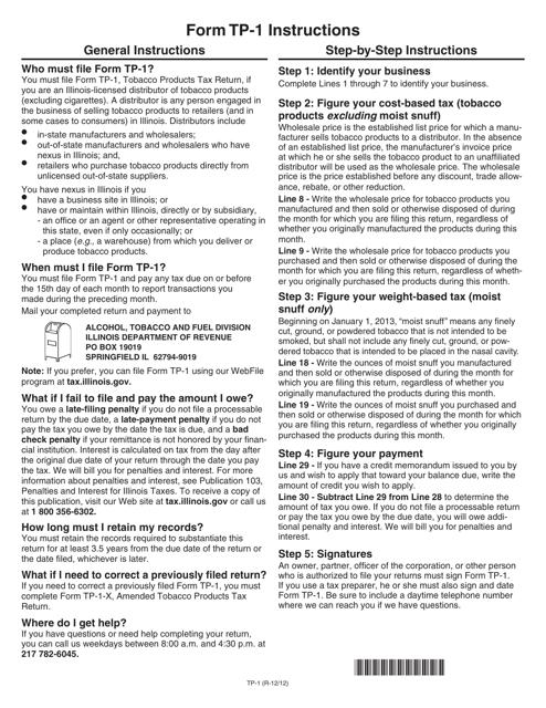 Form TP-1  Printable Pdf