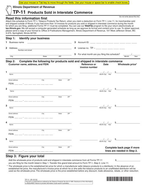 Form TP-11 Fillable Pdf