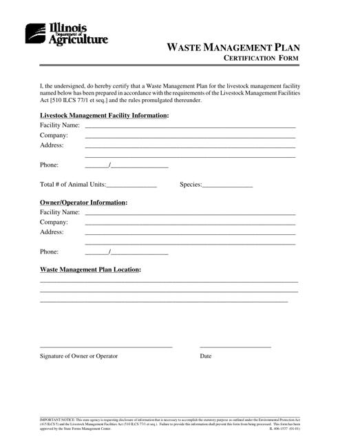 Form IL406-1537 Printable Pdf