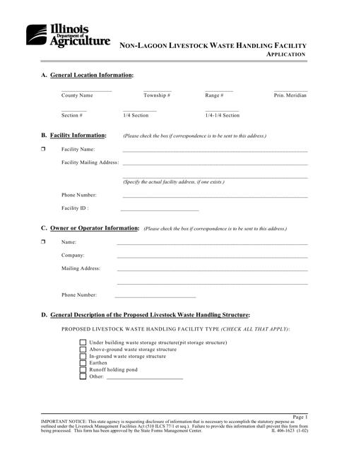 Form IL406-1623  Printable Pdf