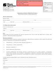 "Form IL406-1691 ""Registration of Dealers of Halal Food Products"" - Illinois"
