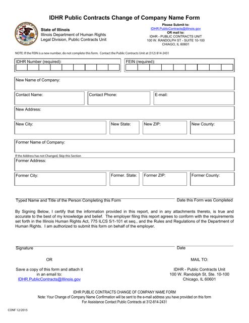 Form CONF Printable Pdf