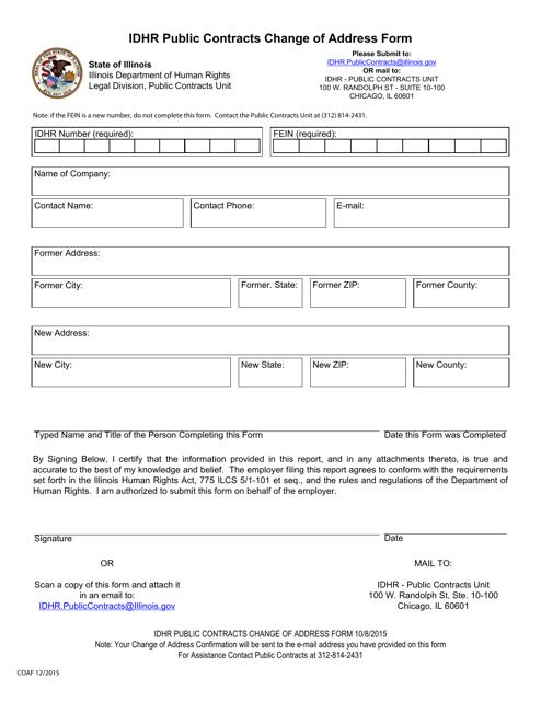 Form COAF  Printable Pdf