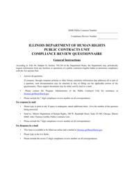 Compliance Review Questionnaire - Illinois