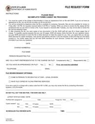 Form IL 442-0261 File Request Form - Illinois