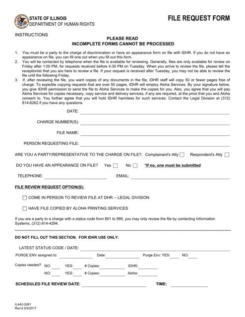 Form IL 442-0261 Fillable Pdf