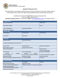 Speaker Request Form - Illinois