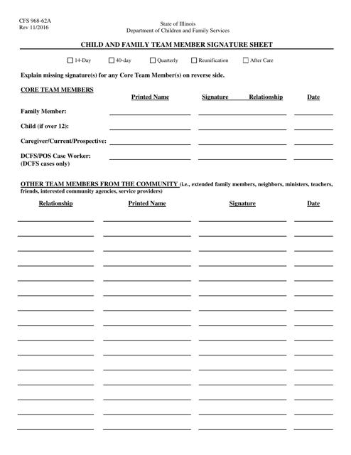 Form CFS968-62A  Printable Pdf