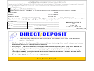 "Form SDU-012 ""Authorization Agreement for Automatic Deposits"" - Illinois"