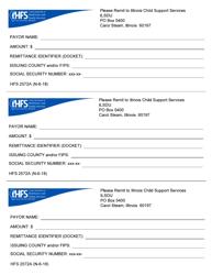Form HFS 2572A Sdu Payment Remittance Form - Illinois