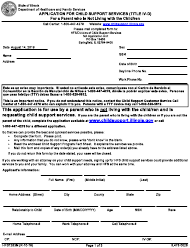 Form HFS 1283N Form Il428-0078 - Application for Child Support Services (Title Iv-D) for a Parent Not Living With the Child/Ren - Illinois
