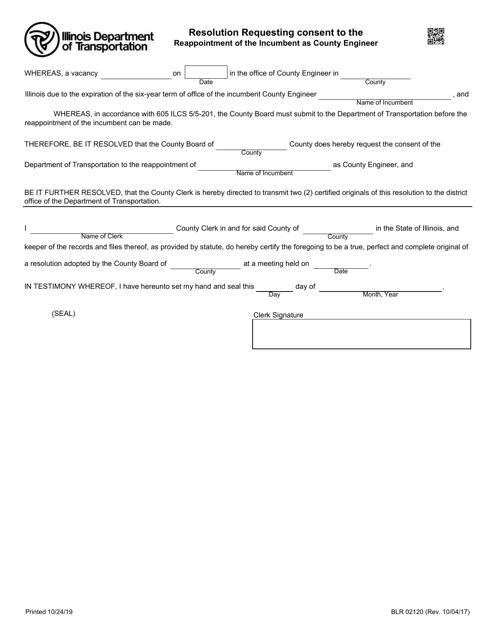 Form BLR 02120 Fillable Pdf