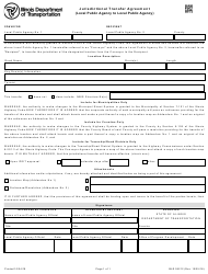 Form BLR 05212 Jurisdictional Transfer Agreement (Local Public Agency to Local Public Agency) - Illinois
