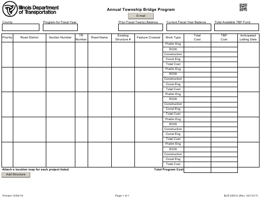 Form BLR09210 Printable Pdf