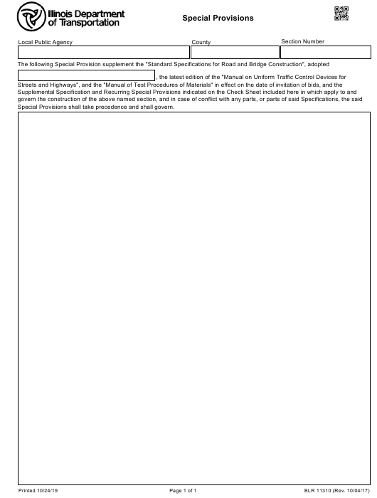 Form BLR 11310 Printable Pdf