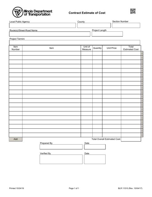 Form BLR 11510 Fillable Pdf