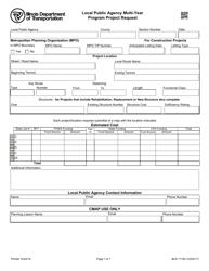 Form BLR 17100 Local Public Agency Multi-Year Program Project Request - Illinois