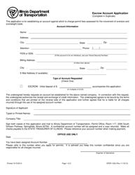 Form OPER 1932 Escrow Account Application - Illinois