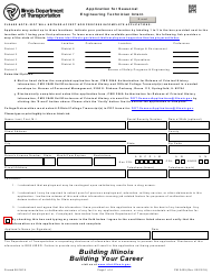 "Form PM2425 ""Application for Seasonal Engineering Technician Intern"" - Illinois"