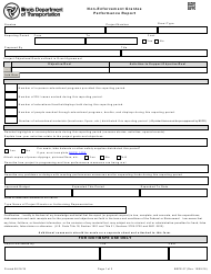 Form BSPE 07 Non-enforcement Grantee Performance Report - Illinois