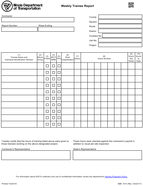 Form SBE1014 Printable Pdf