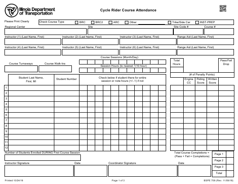 Form BSPE 708 Fillable Pdf
