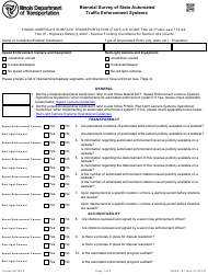 Form BSPE 727 Biennial Survey of State Automated Traffic Enforcement Systems - Illinois