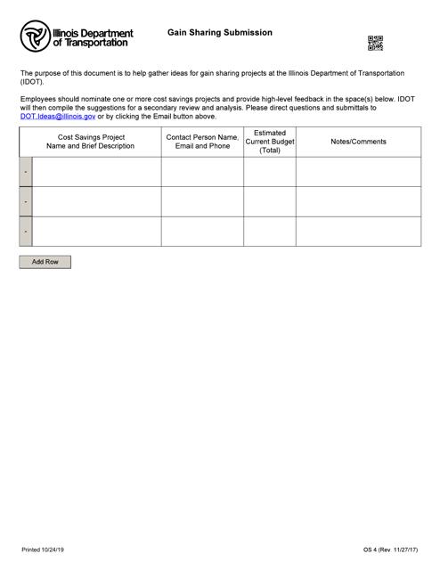 Form OS 4 Fillable Pdf
