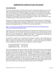 Form OG-27 Application for Landowner Grant - Plugging and Restoration Program - Illinois