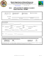 "Form OG-4 ""Application to Amend a Class II Injection Well Permit"" - Illinois"