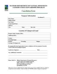 Cancellation Form - Illinois