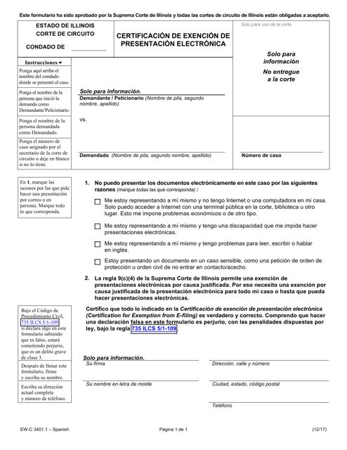 Form EW-C3401.1 Printable Pdf