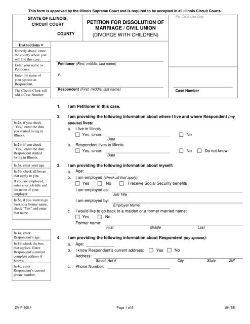 Form DV-P 105.1 Printable Pdf