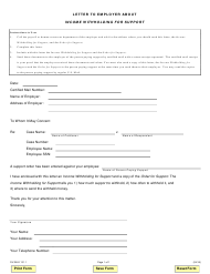 """Form DV-WLE131.1 """"Letter to Employer About Income Withholding for Support"""" - Illinois"""