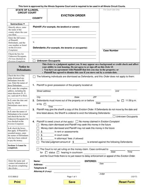 Form E-O 3500.2 Fillable Pdf