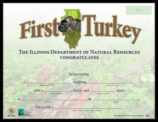 """First Turkey Certificate"" - Illinois"
