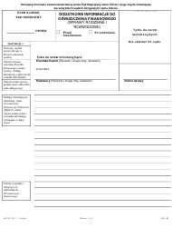 Form DV-AI 121.1 Additional Information for Financial Affidavit - Family and Divorce Cases - Illinois