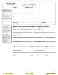 "Form VD-ADS918.1 ""Additional Defendant Signatures, Names, & Addresses"" - Illinois"