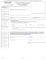 """Form VD-N902.3 """"Notice of Motion to Vacate Default Judgment of Foreclosure"""" - Illinois"""