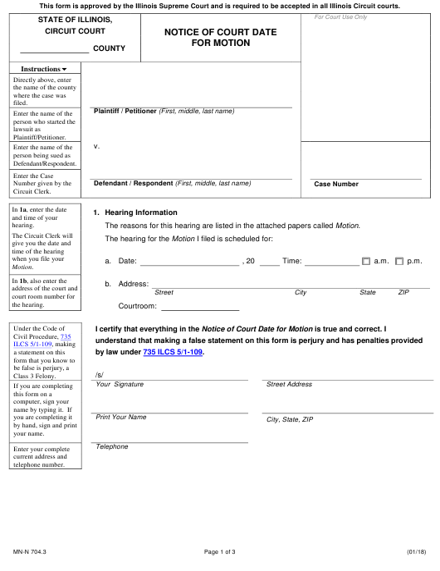 Form MN-N 704.3 Fillable Pdf