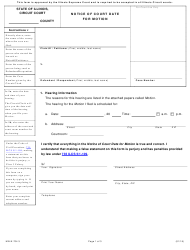 """Form MN-N704.3 """"Notice of Court Date for Motion"""" - Illinois"""