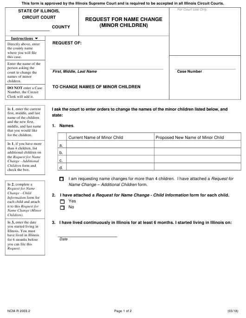 Form NCM-R 2003.2 Fillable Pdf