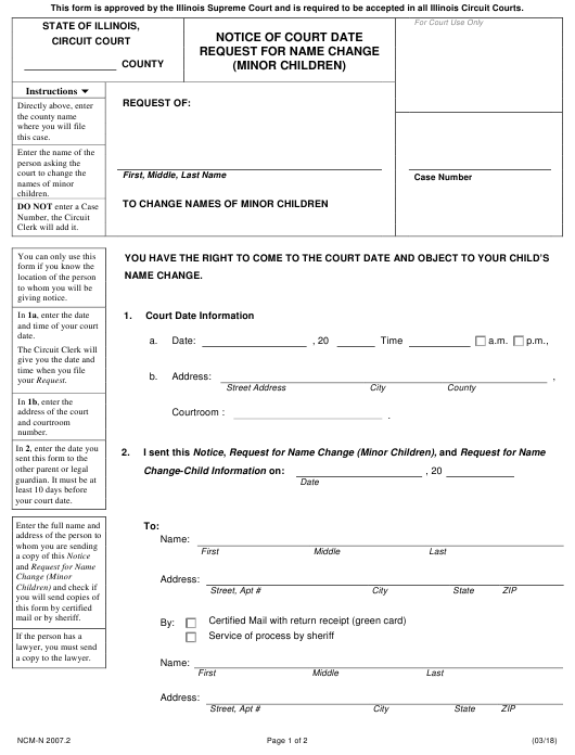 Form NCM-N 2007.2 Fillable Pdf