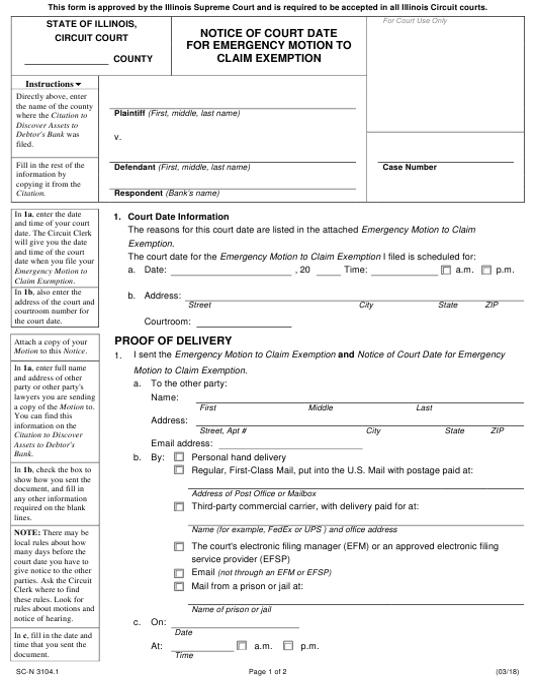 Form SC-N 3104.1 Fillable Pdf