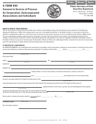 """Form B05 """"Consent to Service of Process for Corporation, Unincorporated Associations and Individuals"""" - Illinois"""