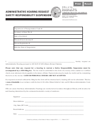 Administrative Hearing Request Safety Responsibility Suspension Form - Illinois