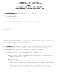 Form DSD CDTS-77 Agreement Between the Illinois Secretary of State and a Commercial Driver's License Third-Party Certification Entity - Illinois